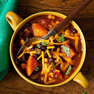 Smoky Black Bean & Sweet Potato Chili