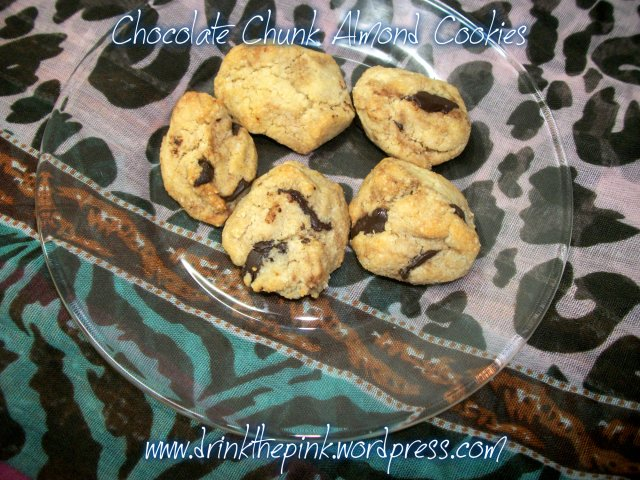 Chocolate Chunk Almond Cookies Recipe